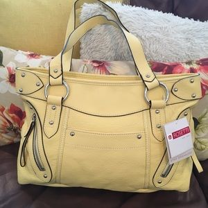 Rosetti, Buttery Yellow, Vinyl Purse